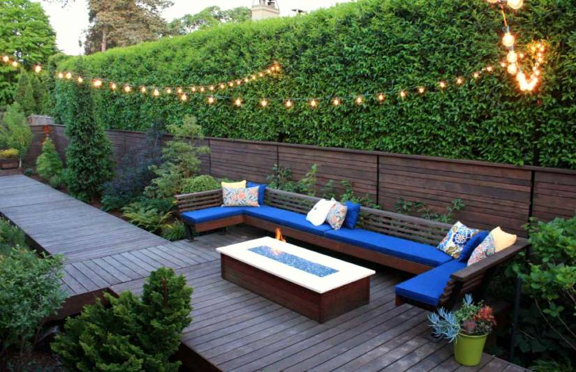 Wooden privacy fence patio & garden ideas (62) | Privacy